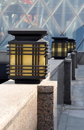 lamps and street Standard-Bild - 104683818