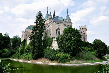 old castle Bojnice, Czech republic, Europe Standard-Bild - 114942480