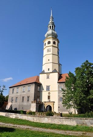 church and castle Tovacov, Czech republic, Europe Standard-Bild - 114942483