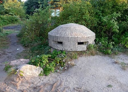 old army concrete bunker