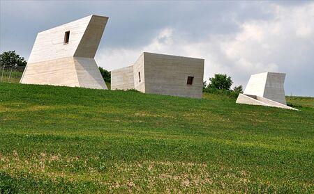 modern museum, landscape Palava, Czech republic, Europe