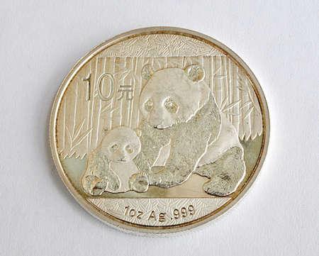 big silver coins, China and Panda