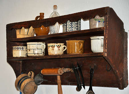 old dishes and furniture