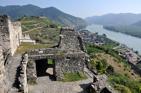ruins castle Spitz, Austria, Europe
