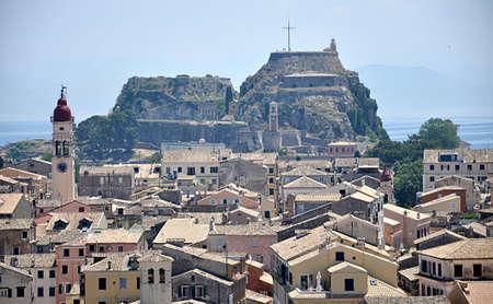 Beautiful view of city Corfu, Greece