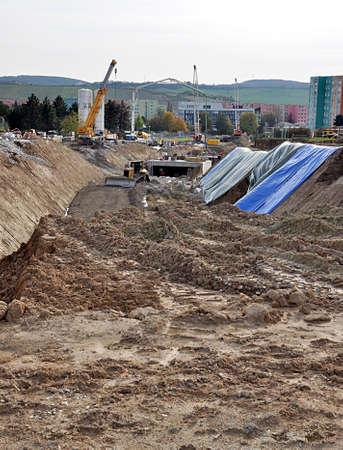 construction and city Brno, Czech republic, Europe