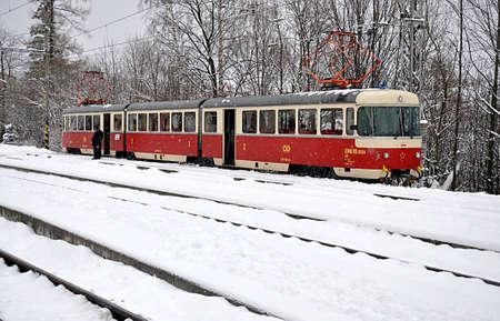 old electro rail, Slovakia, Europe