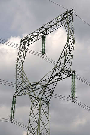 high voltage distribution and pylon
