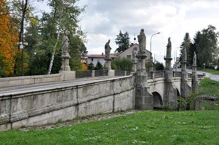 bridge , city Zdar nad Sazavou,Czech republic, Europe Standard-Bild