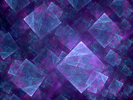 blue cube and nice fractal