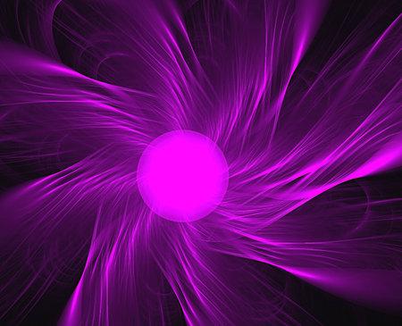 violet ball and nice stripes, fractal