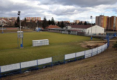 football field, city Brno, Czech republic, Europe