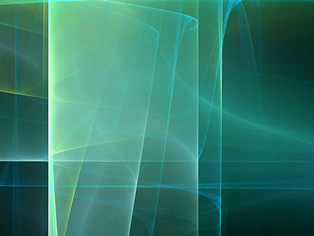 green and blue spiral, nice fractal Standard-Bild