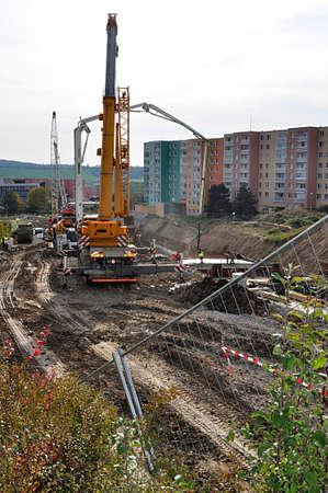 construction site, city Brno, Czech republic, Europe Standard-Bild