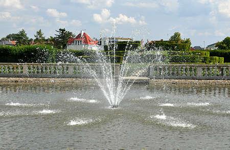fountain in park Standard-Bild