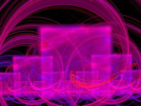 violet and pink cubes, fractal