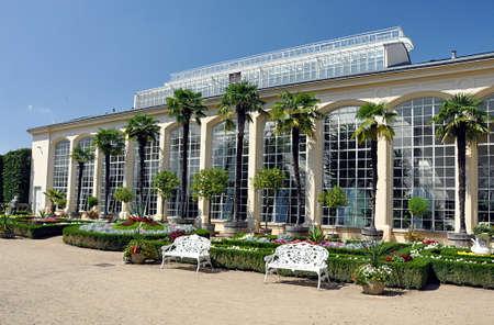 tropical greenhouse, city Kromeriz, Czech republic, Europe Editorial