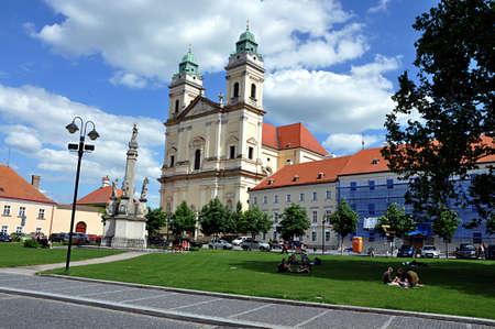 church and city Valtice, Czech republic, Europe