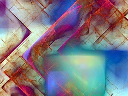 color cubes and nice fractal Standard-Bild