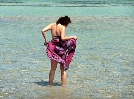 women and sea