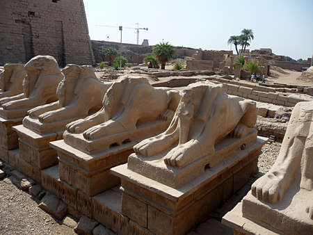 old statue, city Luxor, Egypt, Africa