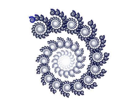 blue flower and fractal