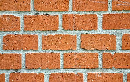 orange brick background and wall