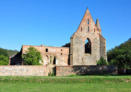 ruins monastery, village Dolni Kounice, Czech republic, Europe Standard-Bild