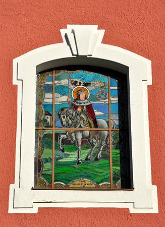 religion color glass mosaic Standard-Bild