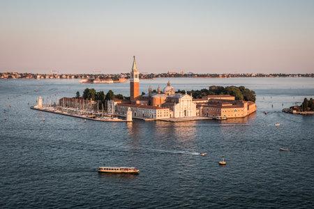Church of San Giorgio Maggiore in Venice, Italy on the island in the logoon