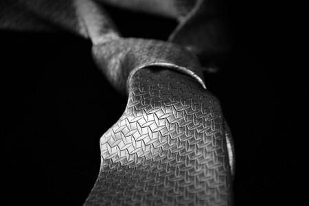 El lazo de cincuenta sombras de gris Foto de archivo
