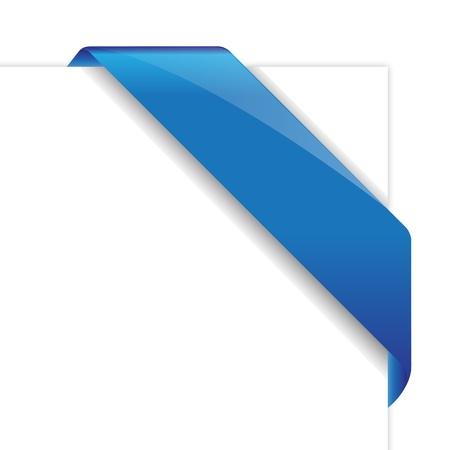 Blu vettore nastro angolo Vettoriali