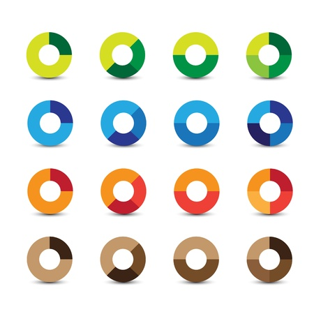 Abstract design elements circle Vector