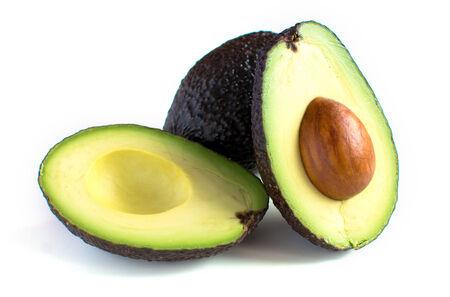 A fresh avocado cut in half Banco de Imagens