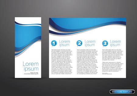 the brochure: tr�ptico de negocios folleto plantilla