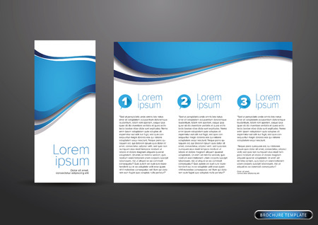 tri fold business brochure template Ilustracja