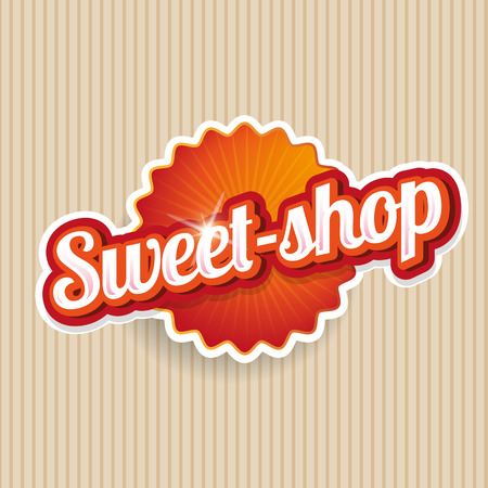 Sweet-shop label