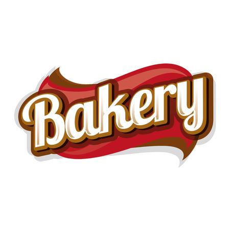 voedingsmiddelen: Bakkerij vector label