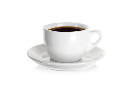 Porcelain cup of coffee Stock Photo