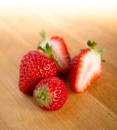 Beautiful fresh strawberries