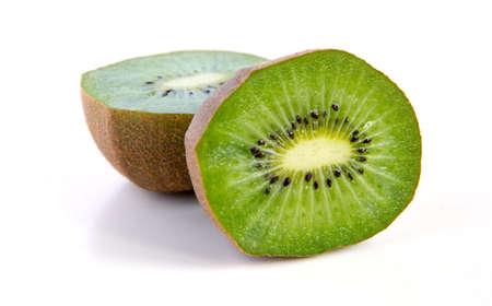 Kiwi fruit sliced segments isolated