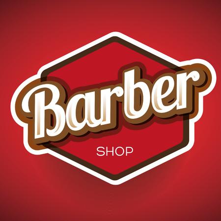 Vintage barber shop logo, label or badge Reklamní fotografie - 34773984