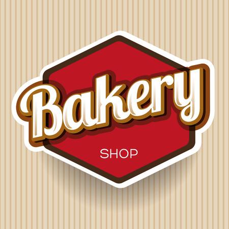 pain frais: Bakery �tiquette vecteur Illustration