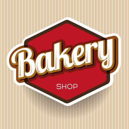 chocolate swirl: Bakery vector label Illustration