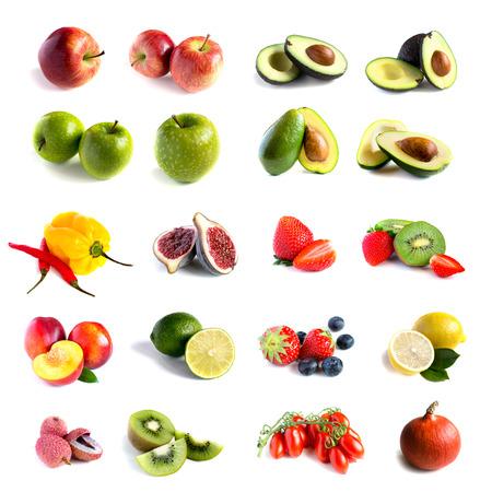 lichi: Fresh fruit set Stock Photo