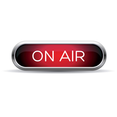 on air red sign 일러스트