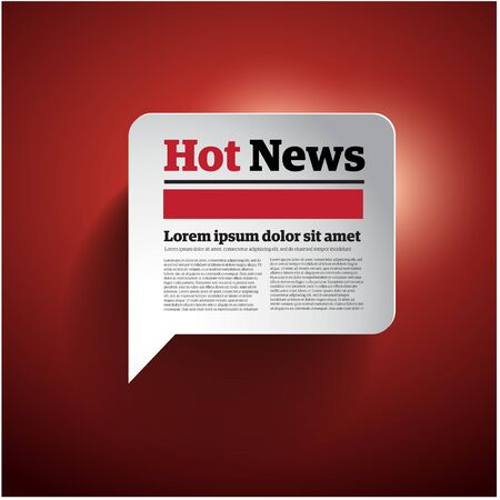 hot news: Hot News button - vector illustration