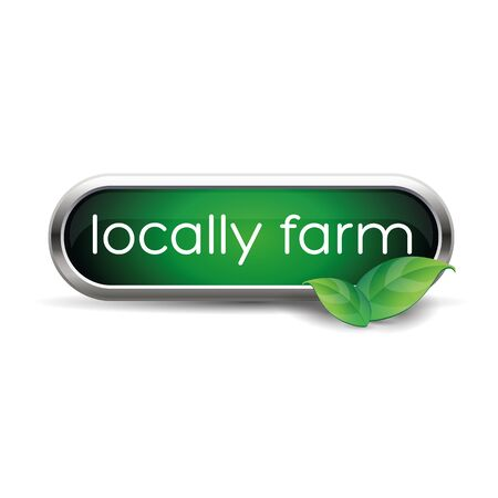 inspected: Local farm food label, badge or seal Illustration