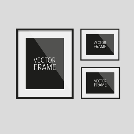 Realistic vector frame black