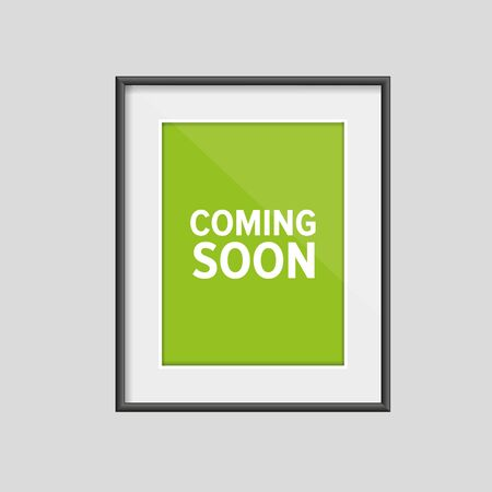 brand new: Coming soon sign frame